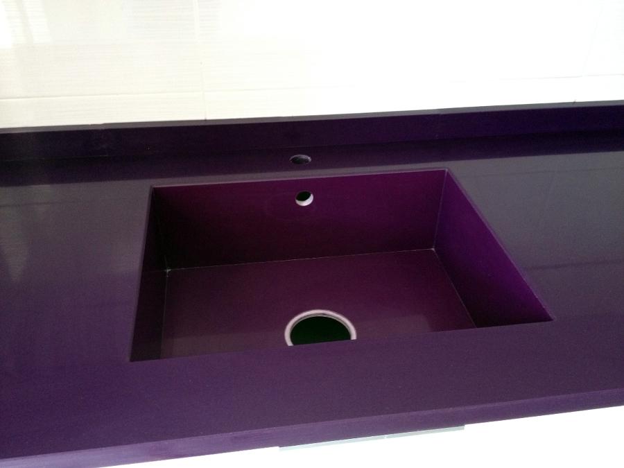 Foto fregadero integrado en compac lila marmoles - Marmoles en valladolid ...