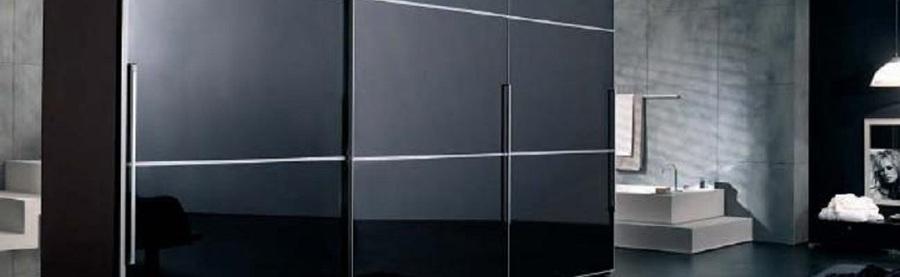 Foto frente de armario corredera negro lacado de - Frente armario corredera ...