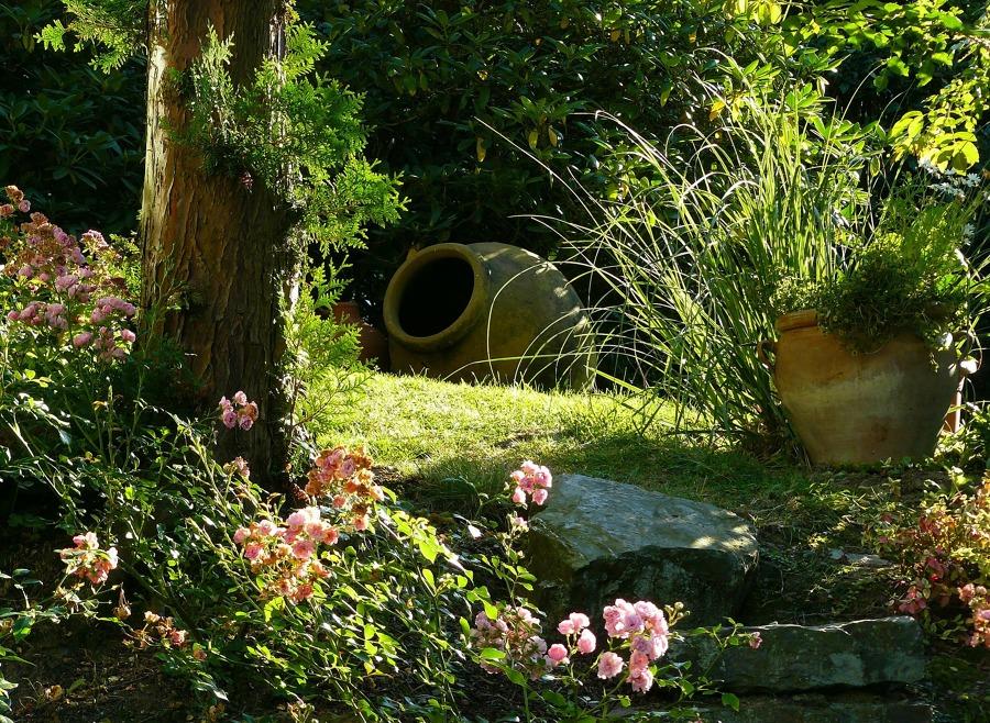 Jardin rústico
