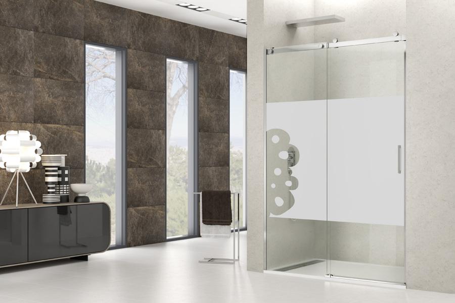 Mamparas de ducha decoradas