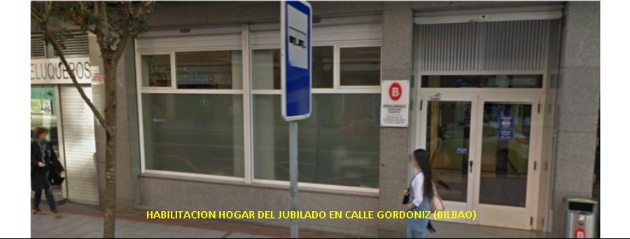 HABILITACION INTERIOR HOGAR DEL JUBILADO EN CALLE GORDONIZ (BILBAO)