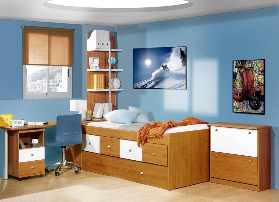 Foto habitaci n color cerezo y blanco de sacoba de for Muebles juveniles albacete