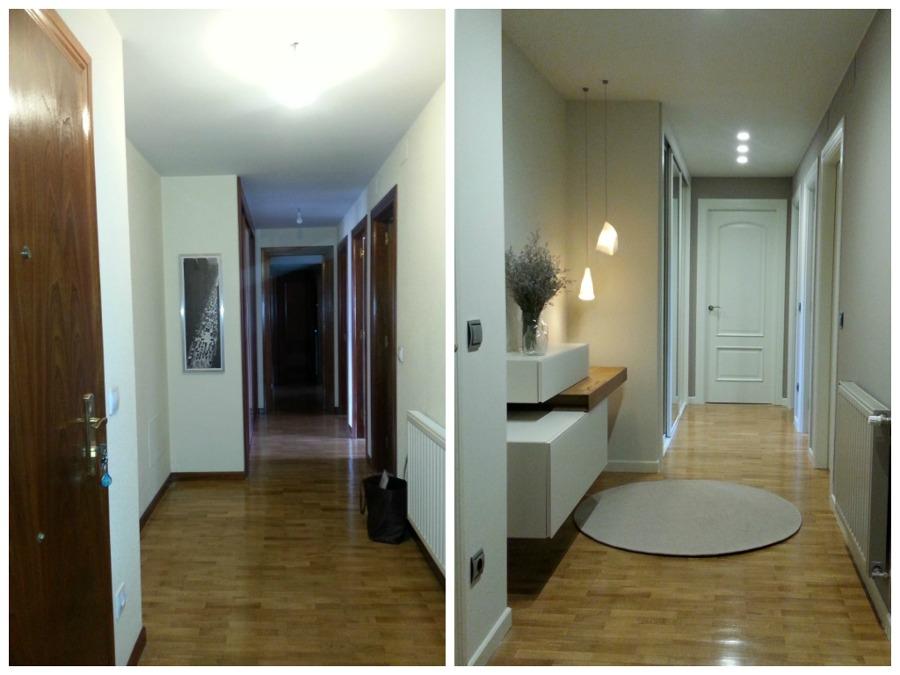 Foto hall pasillo vivienda proyectado y ejecutado por for Pisos reformados modernos