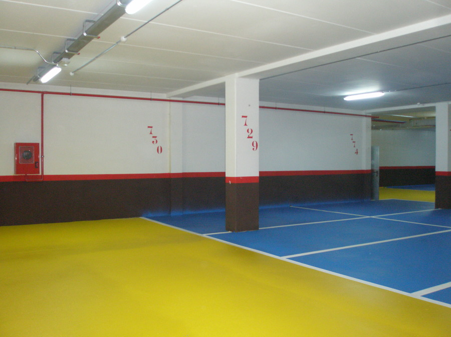 Pintura en garaje