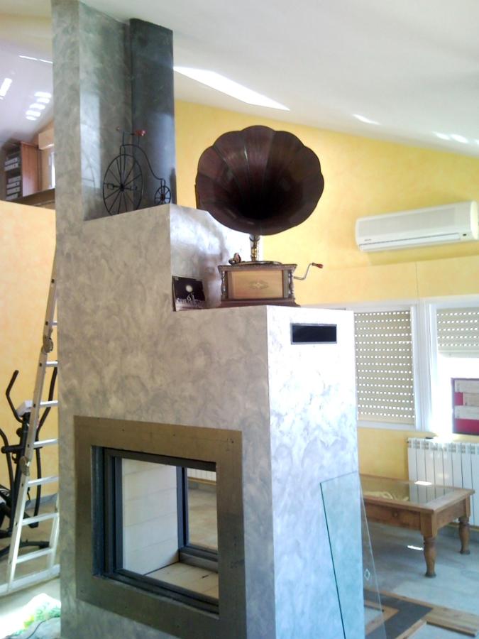 Foto hogar a dos ambientes de chimeneas f nix 146135 - Chimeneas villalba ...
