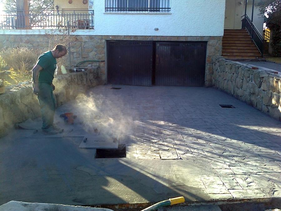 Foto hormigon impreso de pavimentos dym 394526 for Hormigon impreso girona