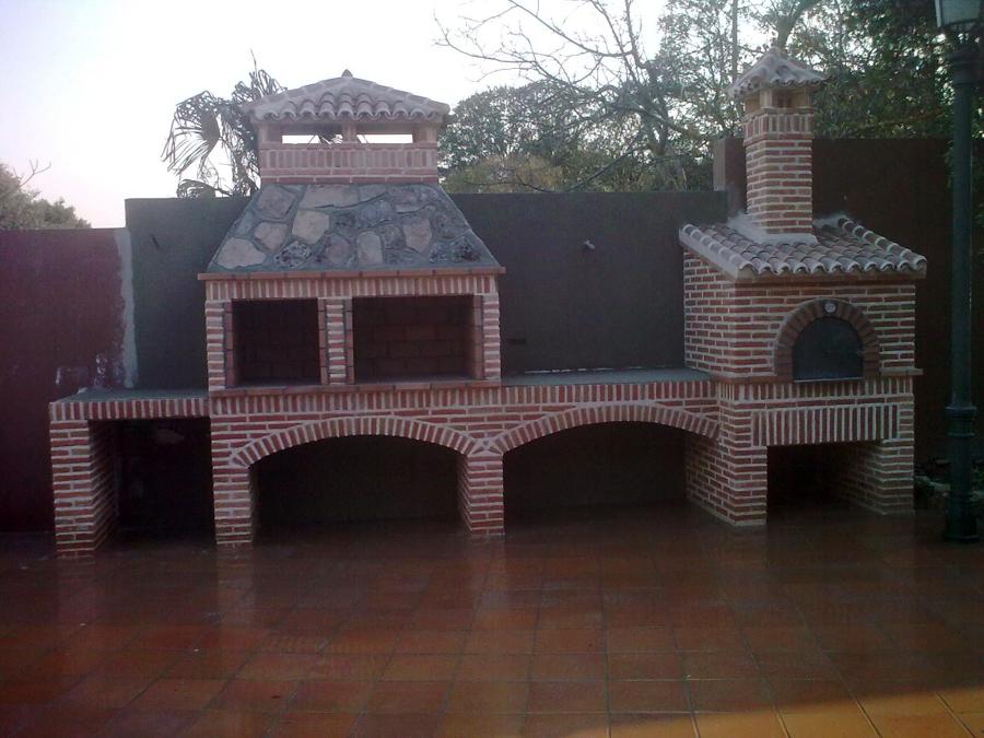 Foto horno barbacoa de construcciones y decoraciones - Barbacoa minimalista ...