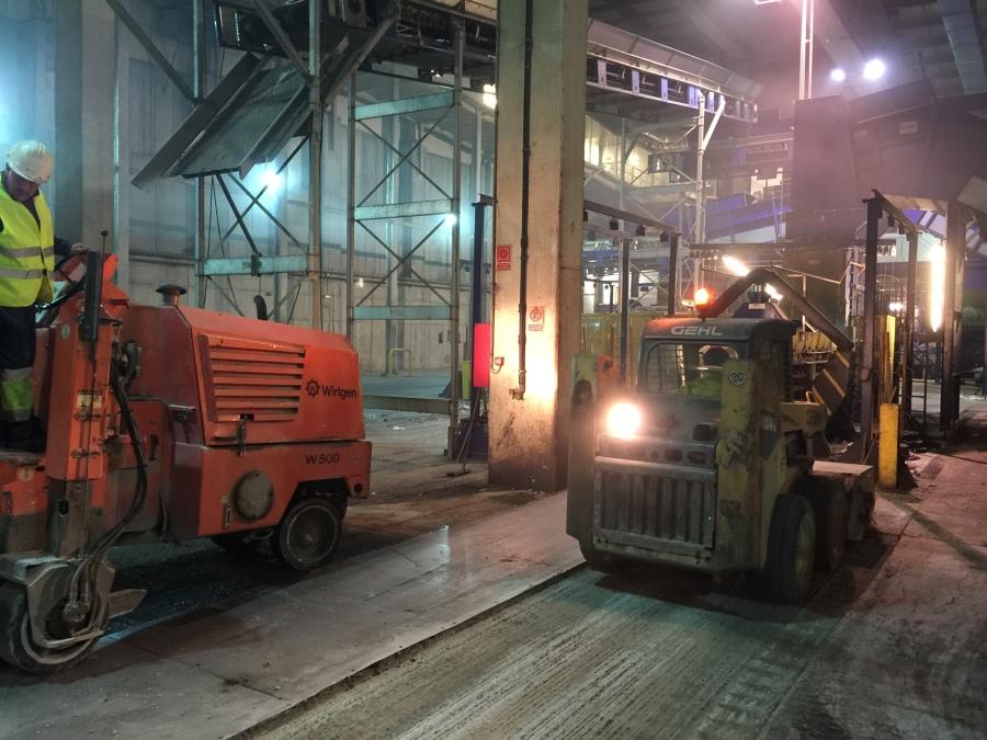 Fresado de suelo industrial