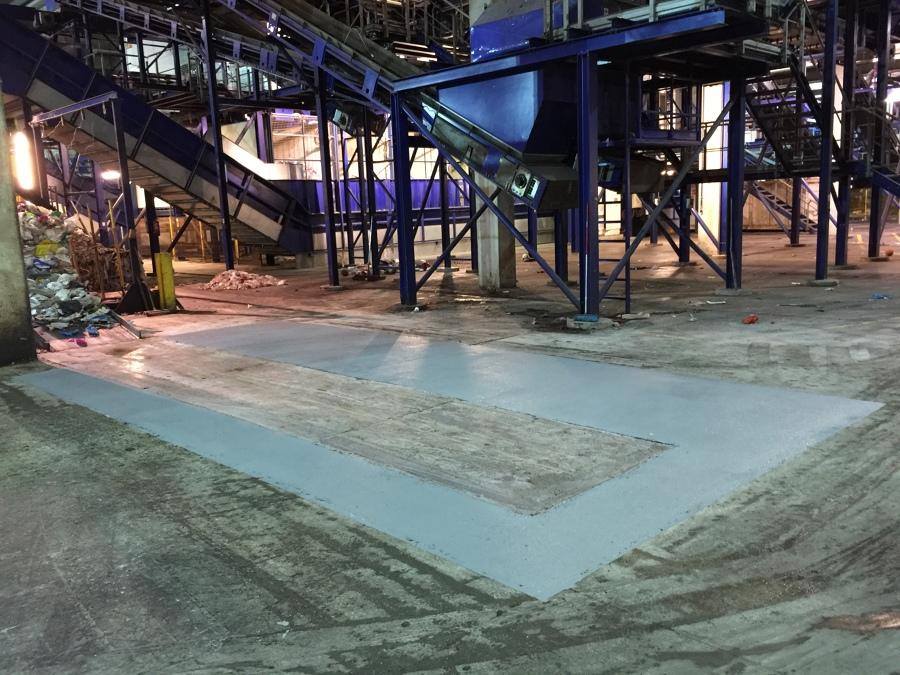 Pavimento industrial asfaltado acabado con epoxi