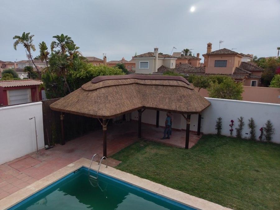 techo con junco africano