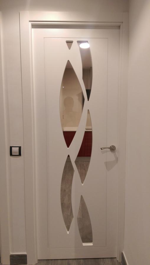 Puerta de paso - vidriera