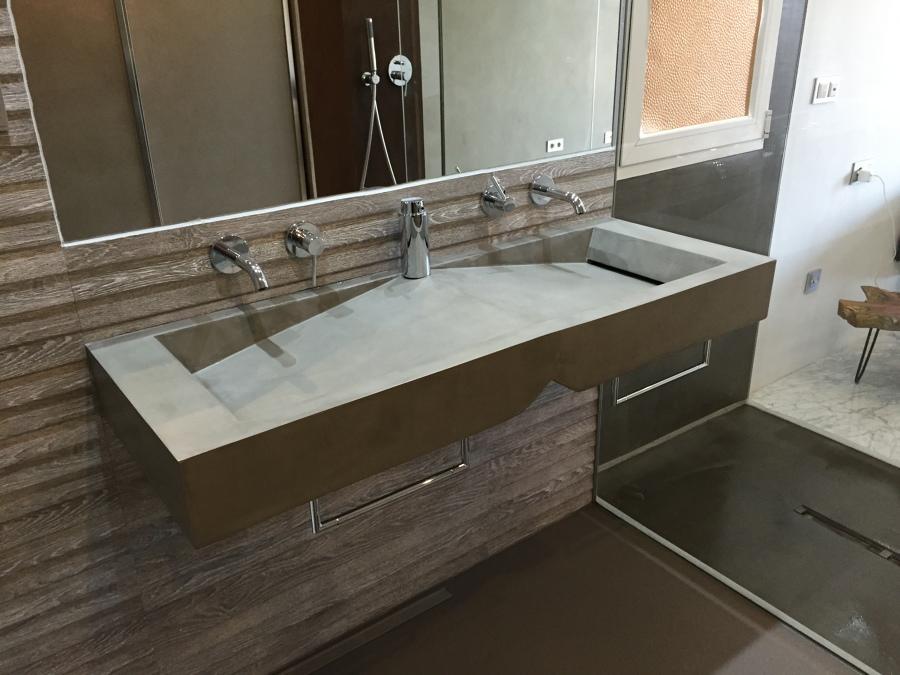 Foto lavabos de microcemento de dmicrocemento 1085809 for Microcemento banos precio