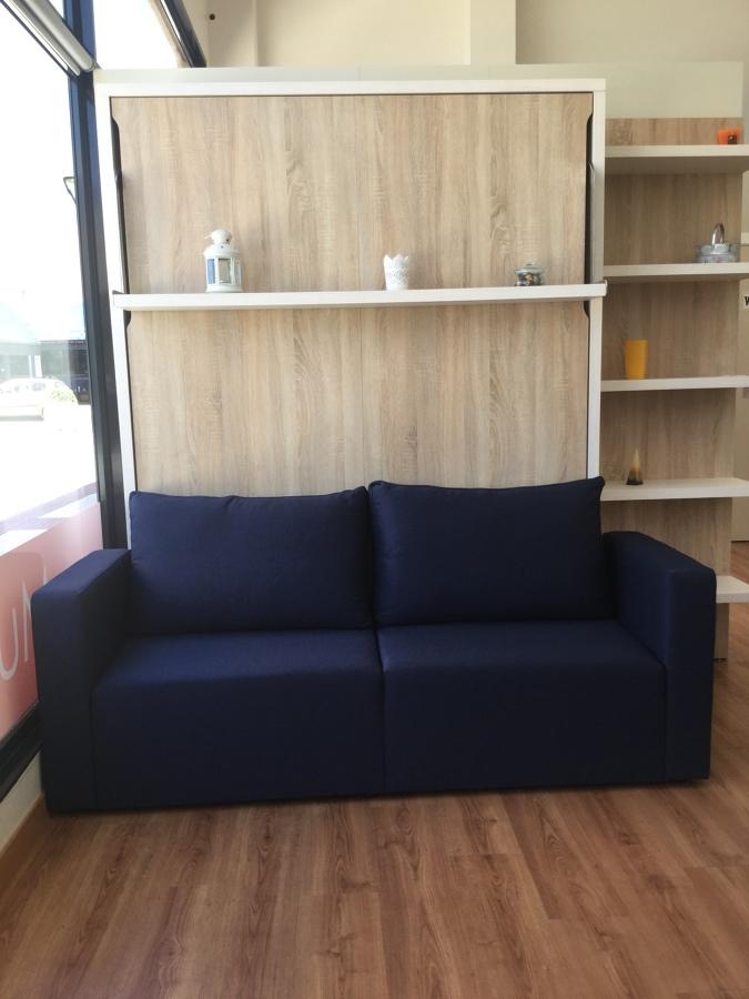 Foto cama abatible vertical c estante de 150 x 190 for Cama cerrada