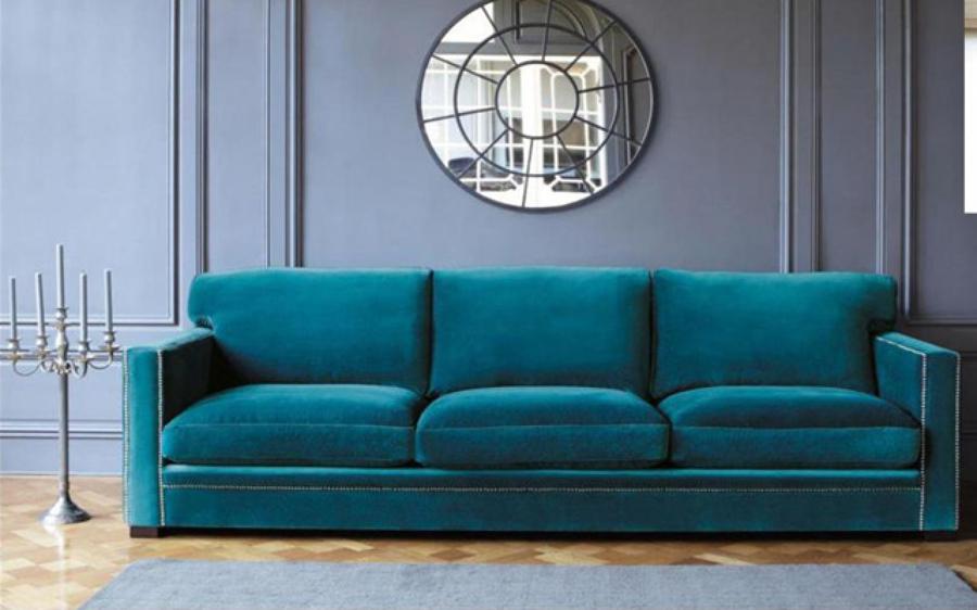 Foto sof tapizado en terciopelo marca gancedo totalmente - Tapiceros en granada ...