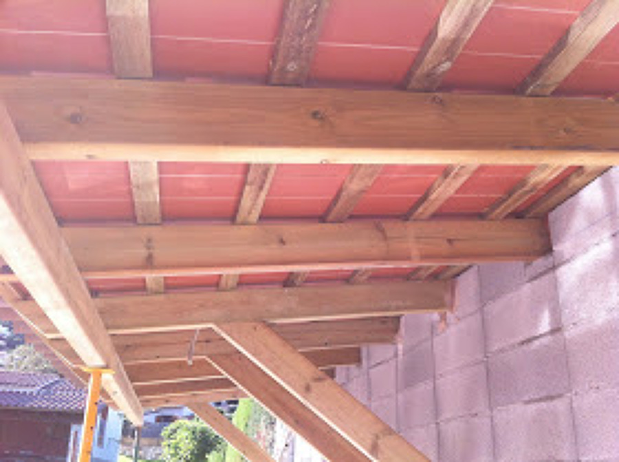 Porche madera