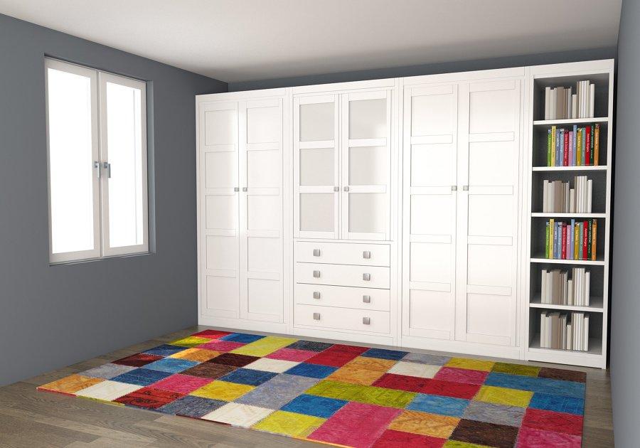 Foto armario lacado blanco roto de muebles carriles 1229562 habitissimo - Muebles infiesto ...