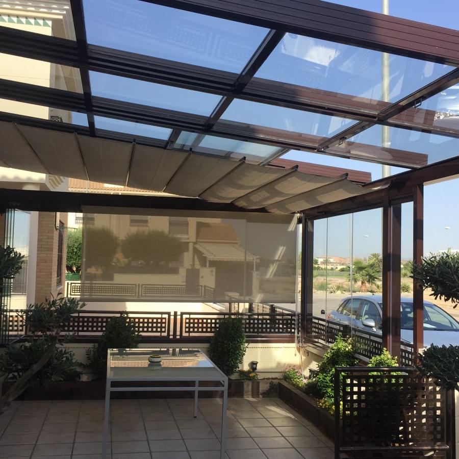 Foto veranda de aluminio en catral de cerramientos abatibles sl 1440106 habitissimo - Precio toldos terraza barcelona ...