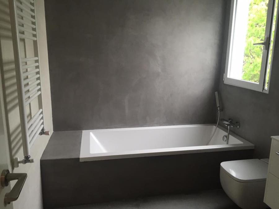 Cuarto de baño en microcemento