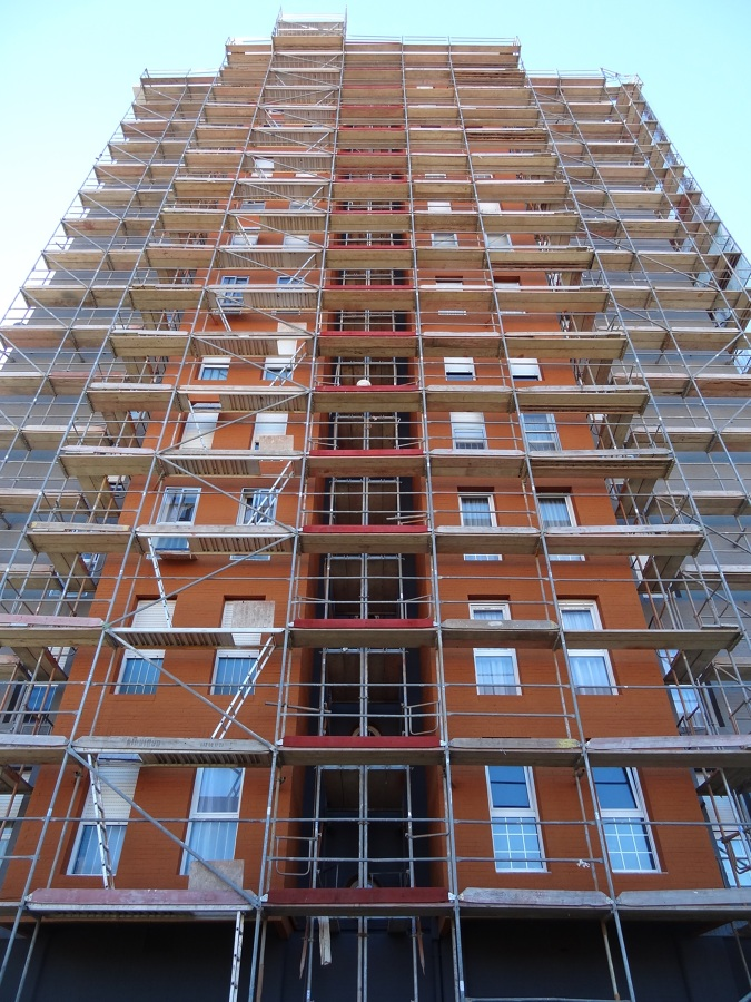 Rehabilitación de fachadas en Santander.