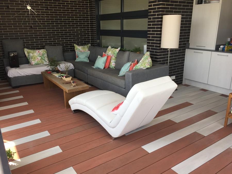 Madera de exterior sintetica terraza