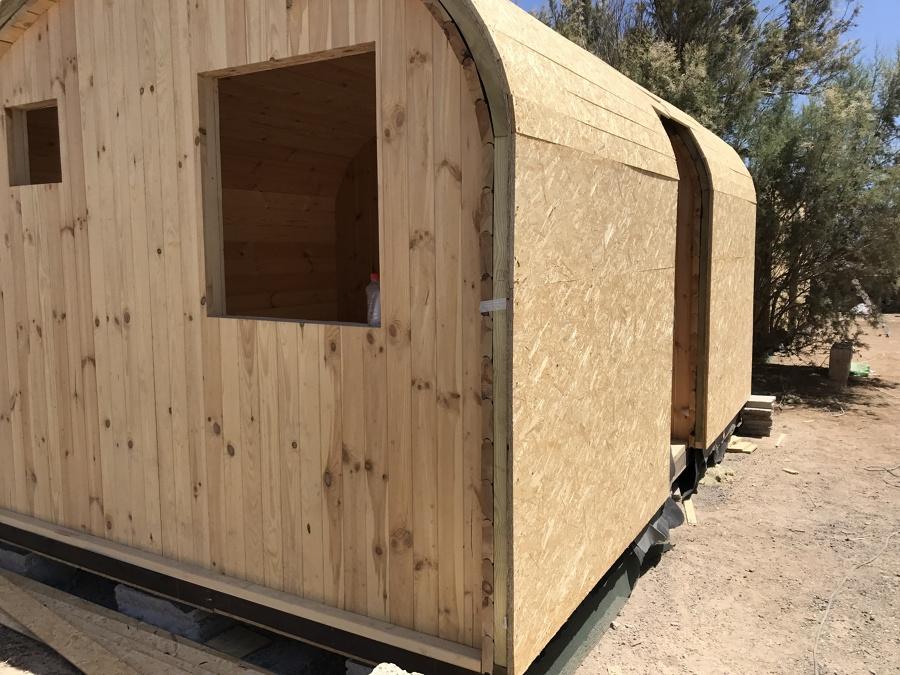 Estructura con aislamento termico casitas de madera