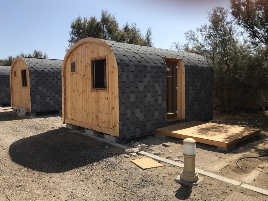 Acabado casitas de madera