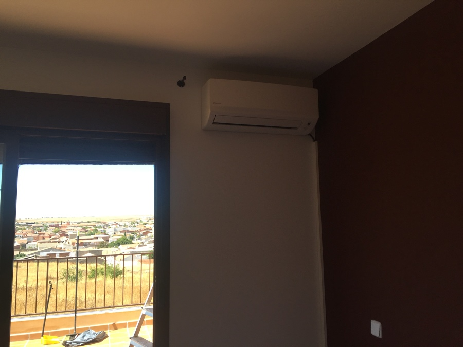 Aire acondicionado por split en vivienda