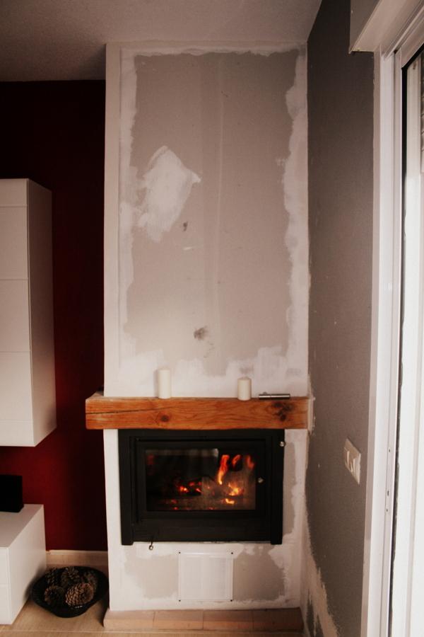 Foto instalaci n de chimenea de le a calefactora para la - Calefaccion lena radiadores ...