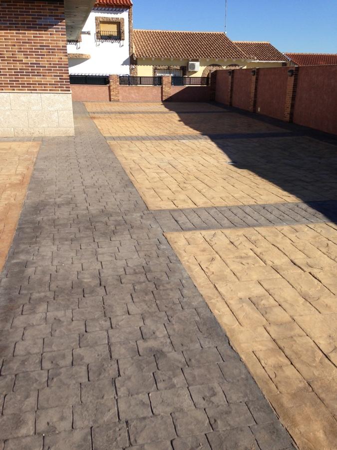 Foto impreso de hormigon de pavimentos y suelos for Hormigon impreso ourense