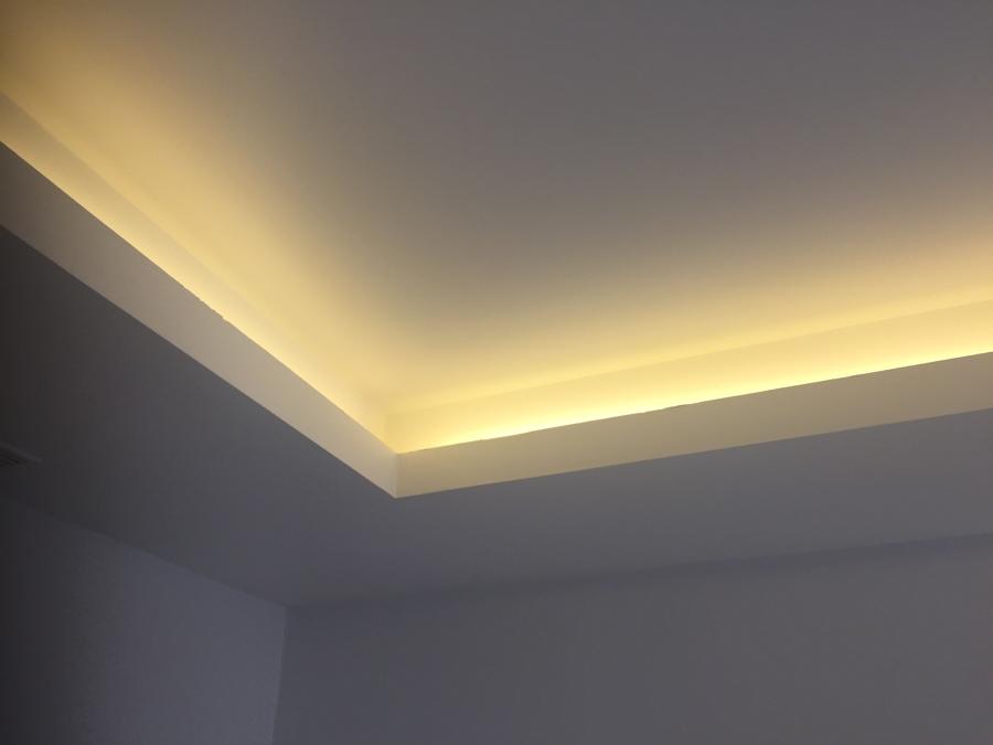 Techo con candilejas para luz led