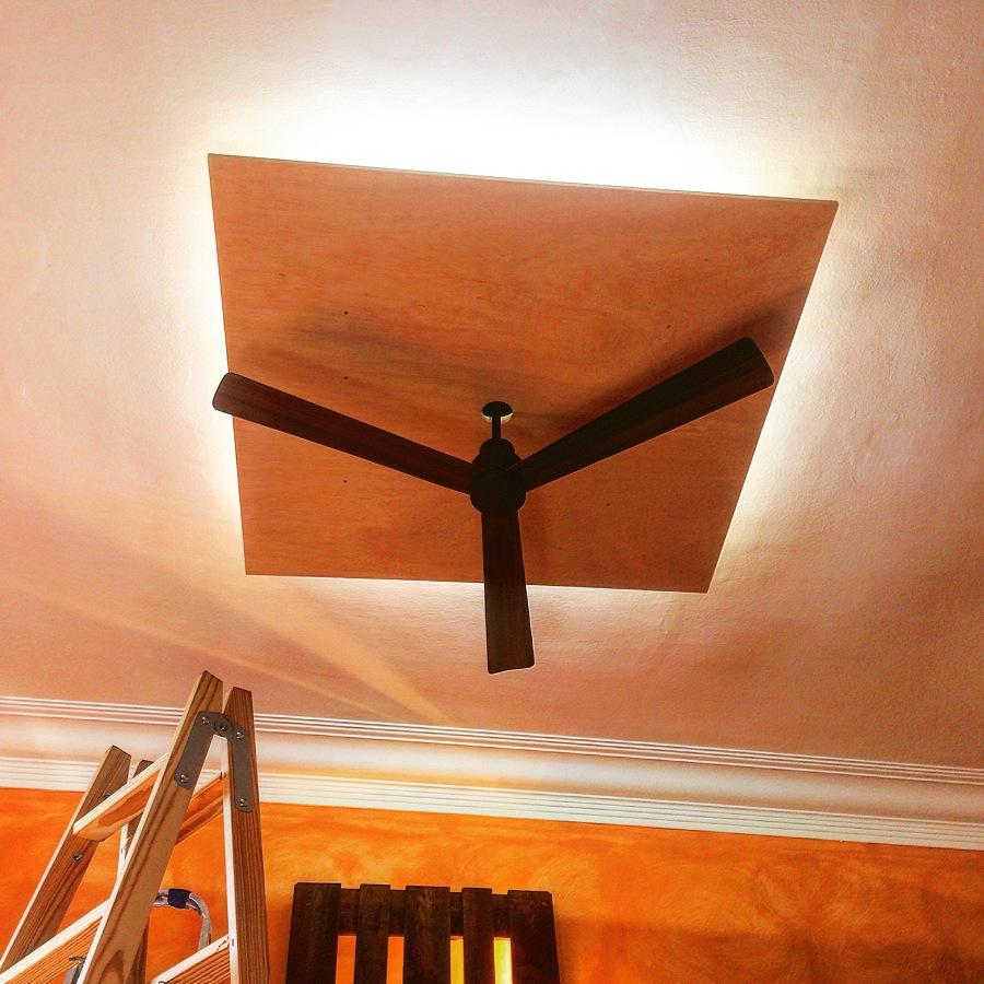 Foto l mpara de techo a medida con ventilador de seca - Lamparas de techo con ventilador ...