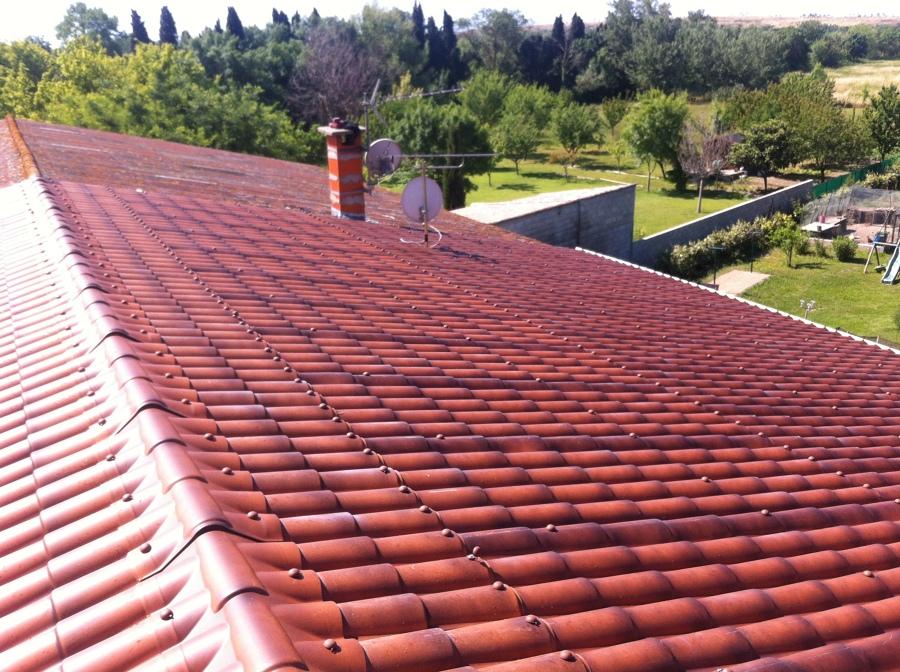 Foto placas imitaci n teja de cubiertas y fachadas del for Placa imitacion teja