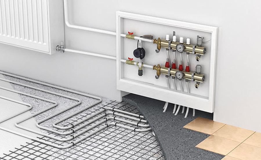 Instalación radiador y suelo radiante