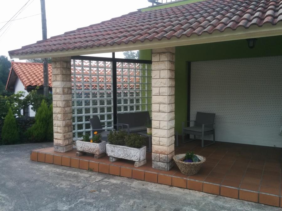Creación de muro de pavés para proteger del viento.