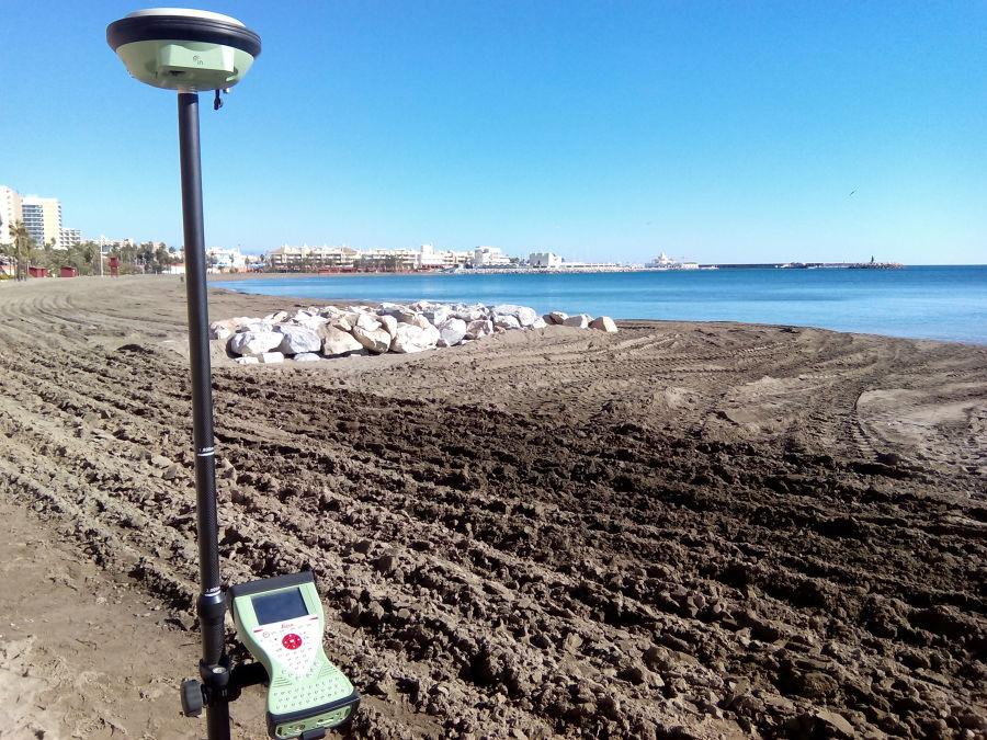 Medición regeneración de playas