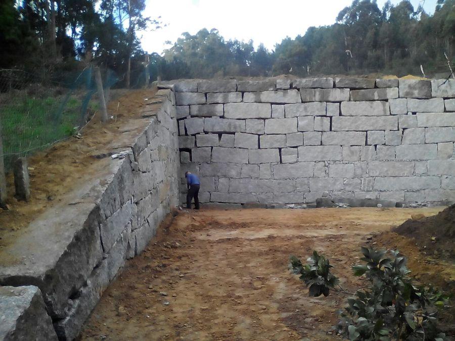 Muros de contencion.