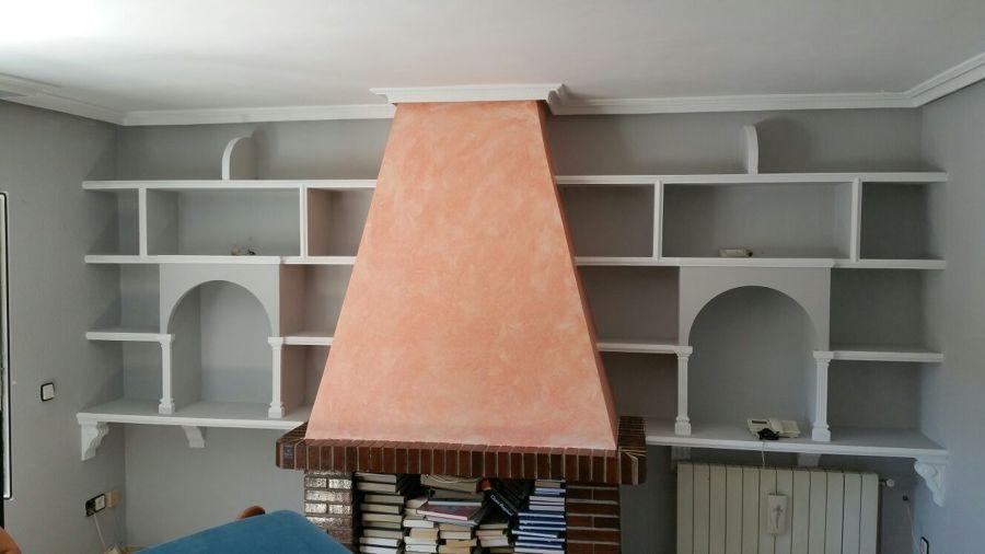 Chimenea decorativa finest como hacer chimeneas con hogar - Chimenea blanca decorativa ...