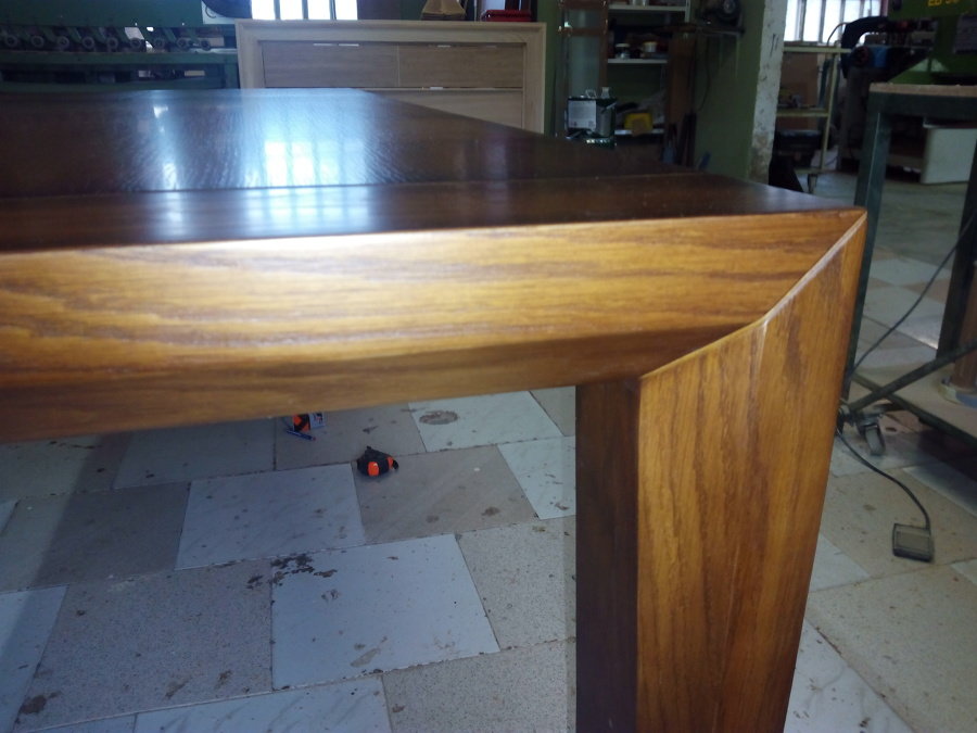 Foto mesa comedor extensible madera dr roble de muebles carriles 1229575 habitissimo - Muebles infiesto ...