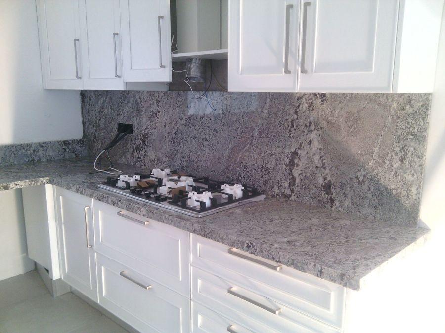 Encimera cocina y pared