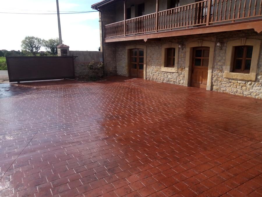 Foto hormig n impreso asturias de pavimentos y pulidos - Hormigon decorativo para suelos ...