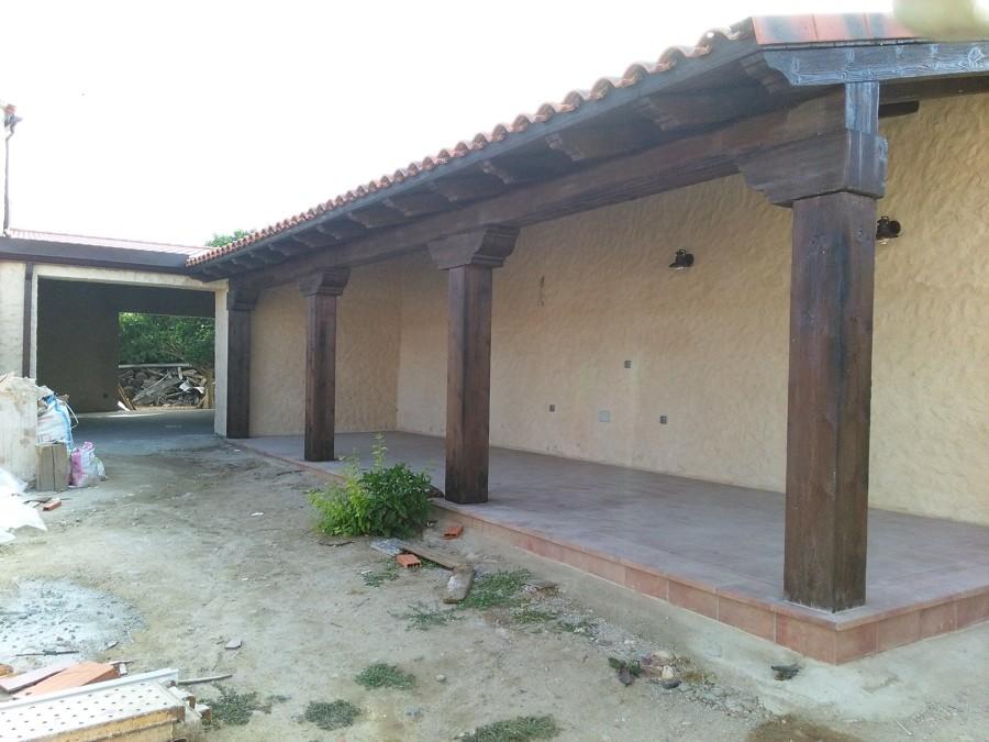 Construcción porche-merendero