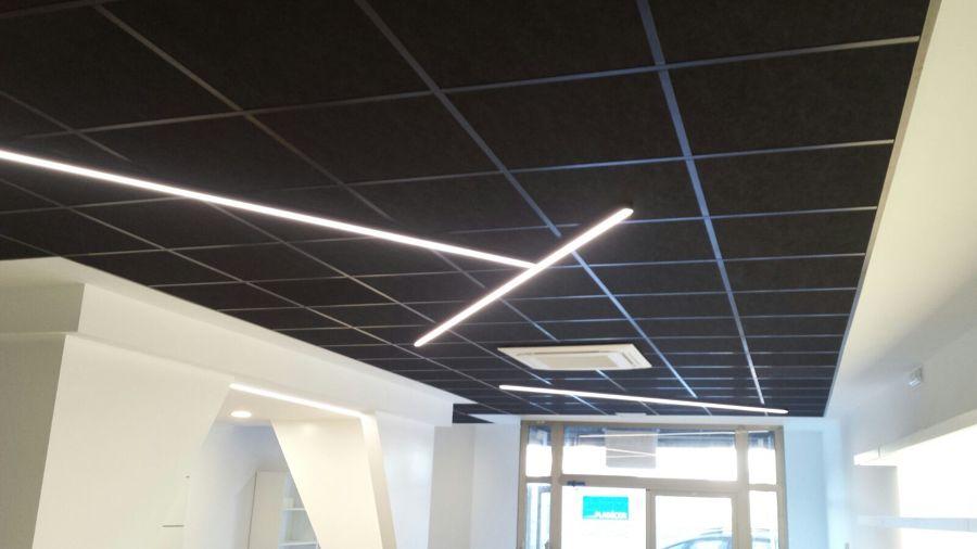 Foto techo desmontable negro de pladecor 1310490 habitissimo - Placas de techo desmontable ...