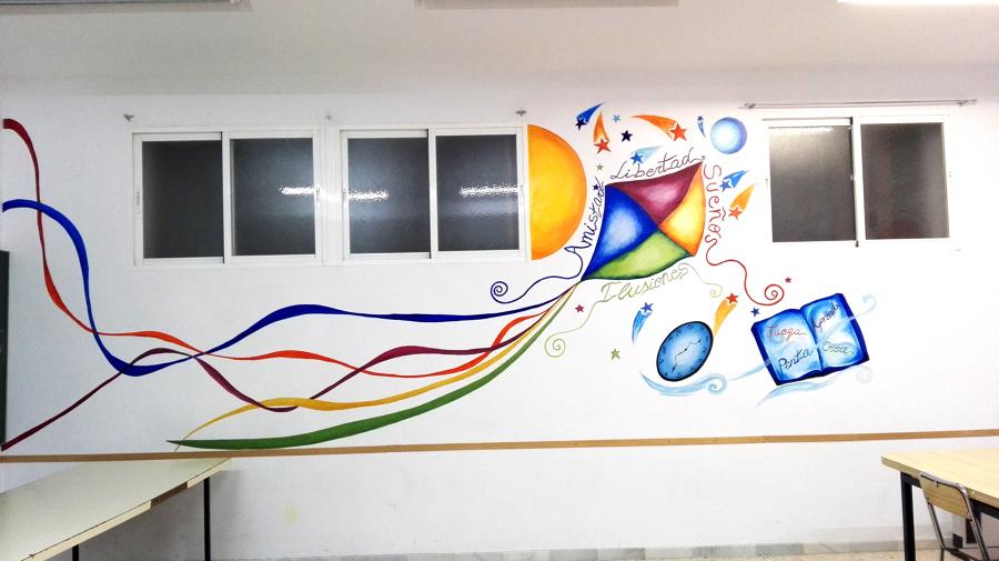"""Proyecto para """"La paz"""" JÓVENES.  Pintura Mural para """"La parroquia del barrio LA PAZ"""" Sala Jóvenes"""