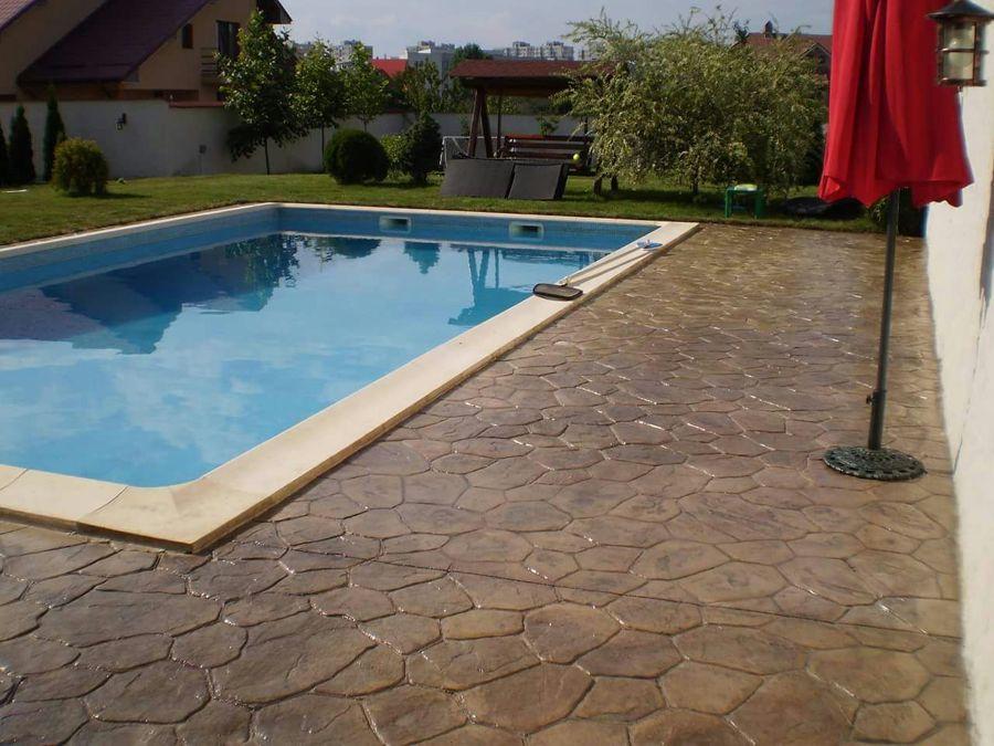 pavimento d ehormigon  y piscinas
