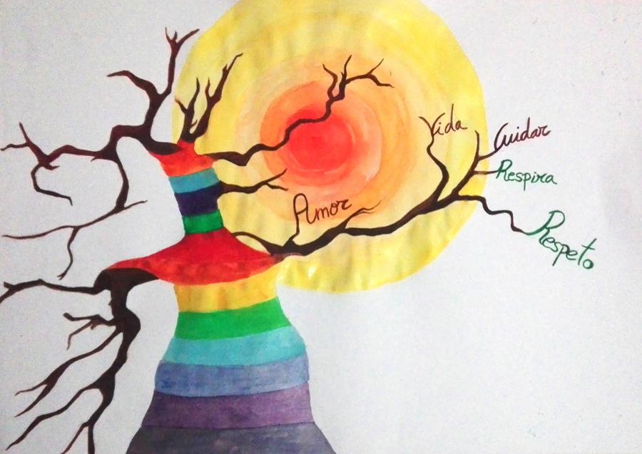 "Boceto de Mural ganador concurso ""III Certamen de Pintura Mural"""