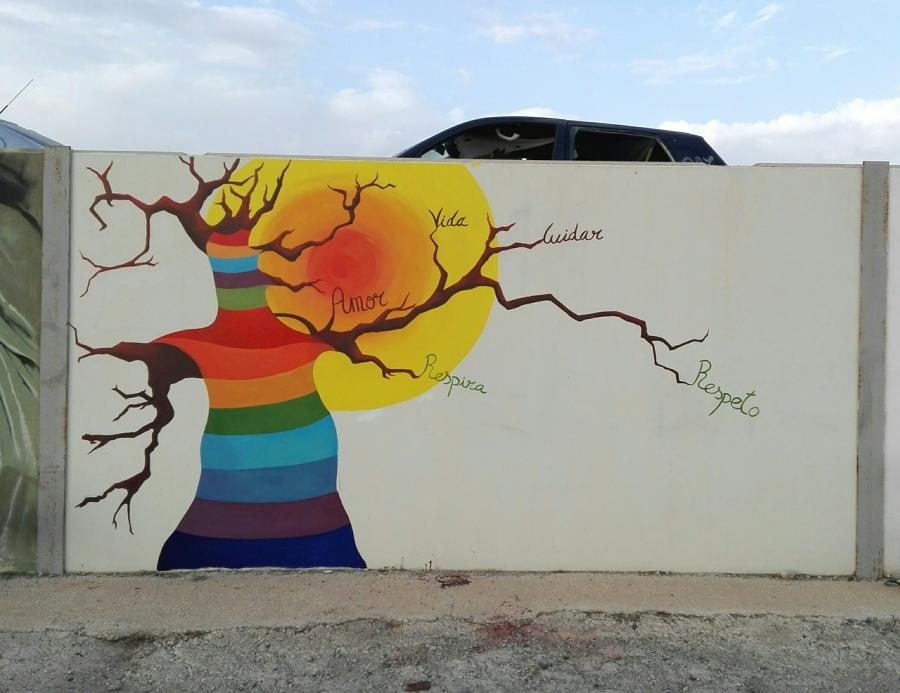 "Mural ganador concurso ""III Certamen de Pintura Mural"""