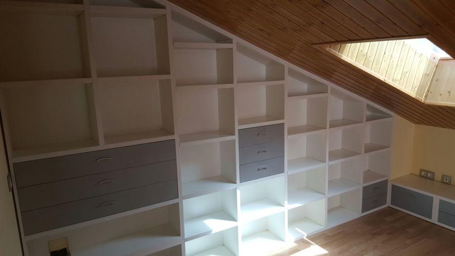 mueble ático medida especial con tirada igual techo