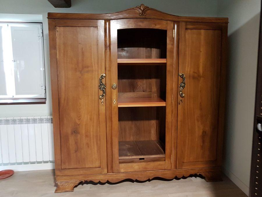 Restauración de armario antiguo de castaño