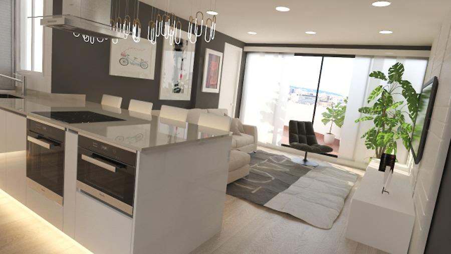 Foto reforma de cocina y sala de estar de rysibcn s l for Sala de estar y cocina