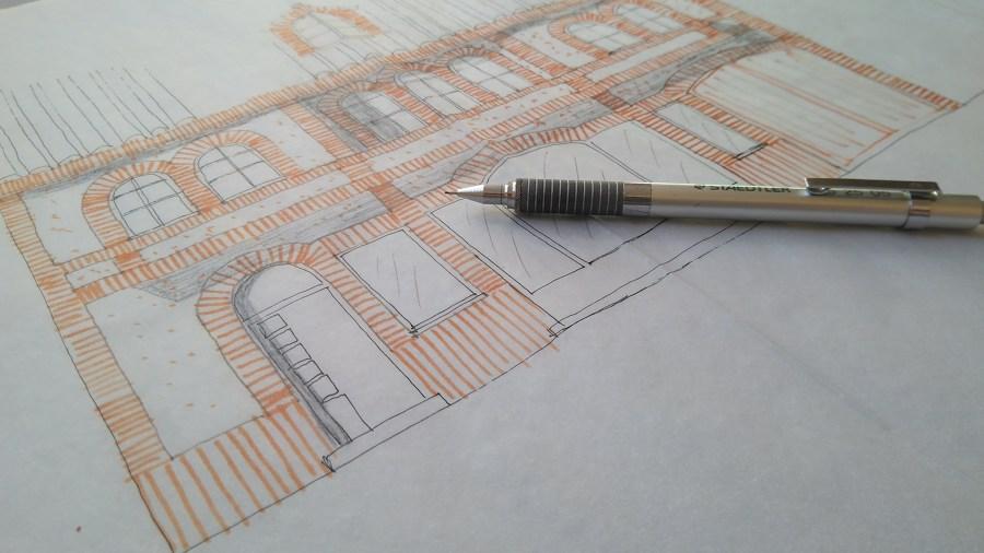 Diseño de fachada de ladrillo cara vista